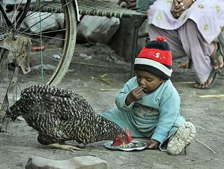 تصویر کودکی فقیر