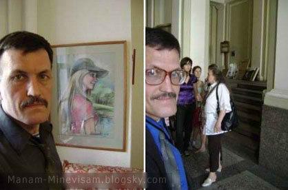 تصاویر استادی که در همه عکس ها نصفه ظاهر شده