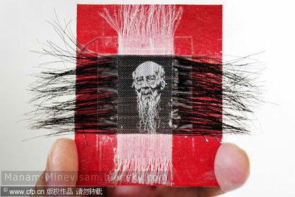 خلق تصاویر با استفاده از موهای انسان به دست هنرمند چینی