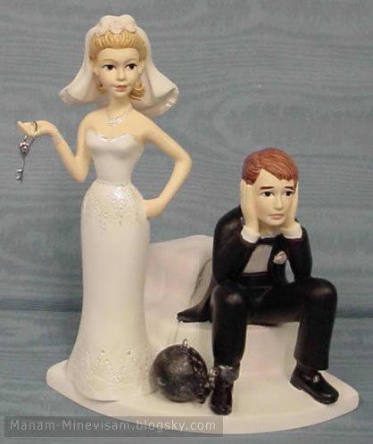 عجیب ترنی عهروسک های مخصوص کیک ازدواج