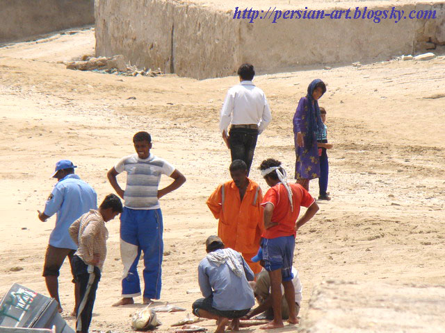 ساحل دریا ماهی فروش خلیج همیشگی فارس