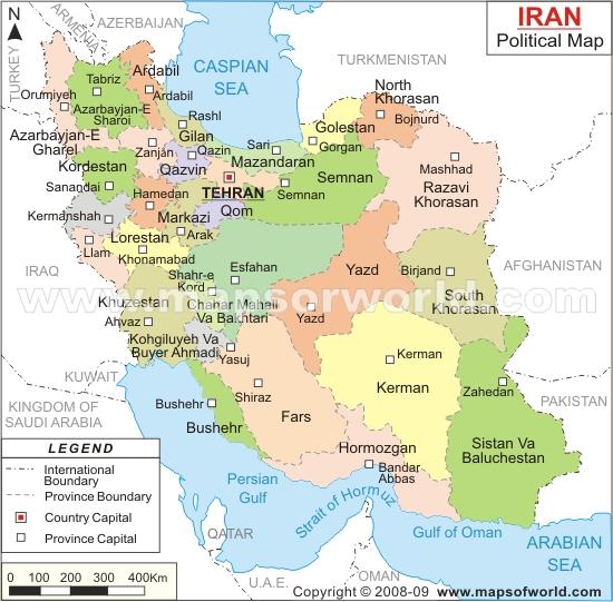 نقشه انگلیسی ایران