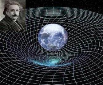 تصور یک تصویرگر از فضا-زمان خمیده در اطراف زمین