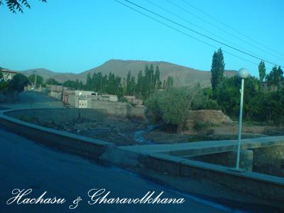روستای هاچاسو با دورنمای کوه قاراولخانا