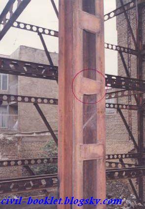 ضعفها و اشکالات اجرایی ساختمانهای فولادی در حال ساخت - جزوات ...ابعاد و ضخامت ورقهای بست افقی در ستون مرکب فولادی بدرستی اجرا نشده است.