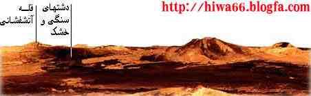 دشتها و كوههای سطح سياره زهره