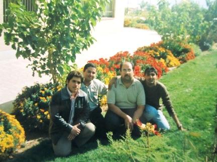از سمت راست:سیدعلی طباطبایی-علی ناظری-هادی حداد-محمد بختیاری (بهار 84)