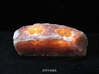 جاشمعی طبیعی با سنگ نمک قرمز