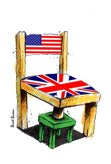 کاریکاتور سیاسی، پایه های استکبار جهانی اثر