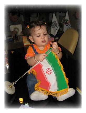 زهرا نازنازی و پرچم ایران