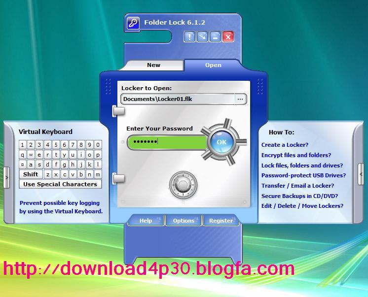 Folder Lock 7 0 3 برنامه قفل گذاری فایل های  کمک در برنامه Folder Lock Professional