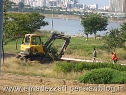 حاشیه رودخانه هان در شهر سئول و فضا سازی برای پارک های آبی تابستانه