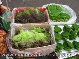سبزیجات مصرفی در غذاهای کره ای
