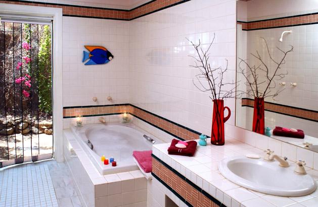تزئین حمام ساده و ارزان