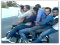 کلیپ خنده دار ایرانی موتور سواری ۶ نفری
