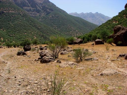 عریض شدن دره در نزدیکی روستای تی
