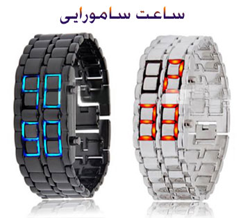 ساعت LED مدل Iron Samurai, ساعت ال ای دی سامورایی, shuj دستبندی ال ای دی سامورایی