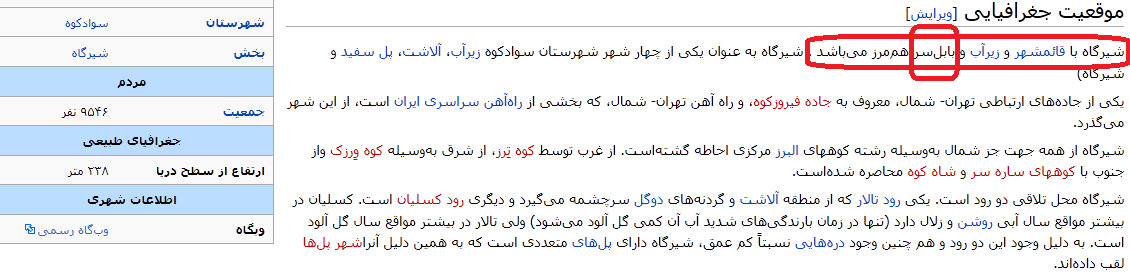 شیرگاه در ویکیپدیا