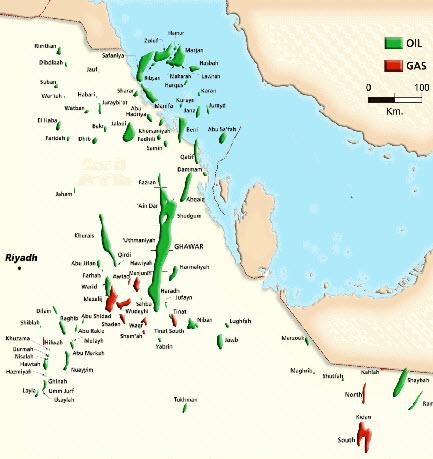 نقشه نفتی عربستان