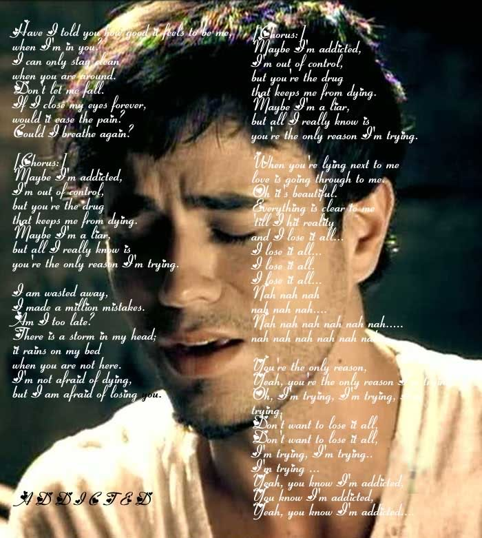 Enrique Iglesias-Addicted Lyrics - YouTube