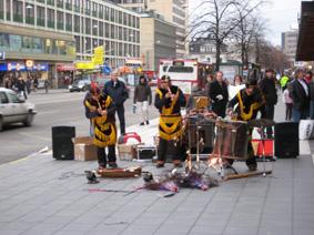 نمایش خیابانی در استکهلم