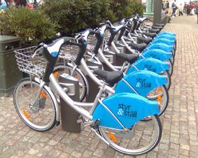 دوچرخه های کرایه در گوتنبرگ