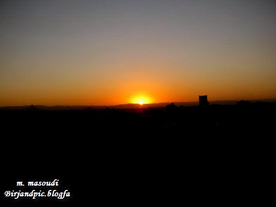 طلوع خورشید در بیرجند