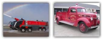 عکس ماشین های آتش نشانی قدیمی و جدید