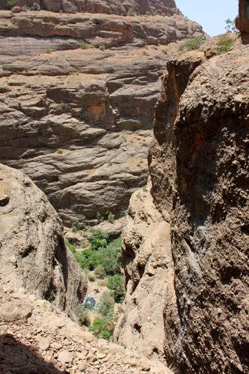دره محل اطراق از بالا