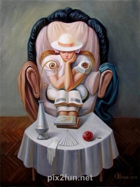13225077823 عکس چهره های پنهان در نقاشی ها