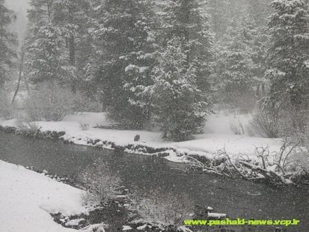 برف پاییزی روستای پاشاکی