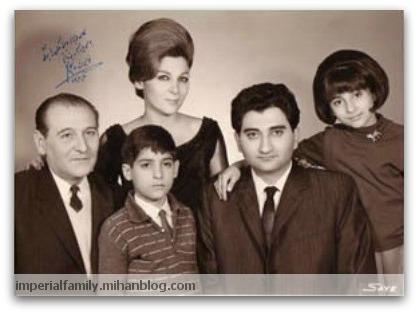 عکس نازک پهلوی و بهزاد پهلوی