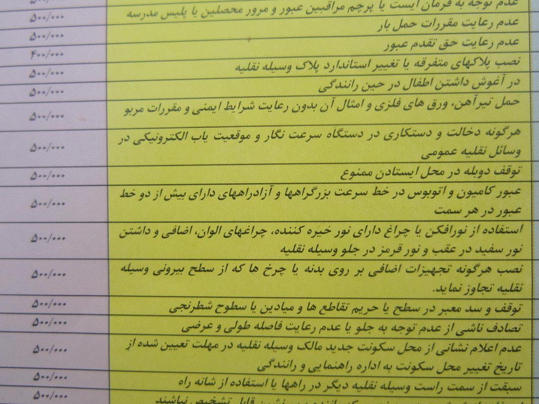 نامه تشکر از حامی وبلاگ شهدای رامهرمز - قوانین رانندگی