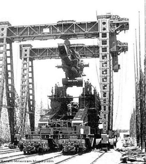 بزرگترین تفنگ دنیا در زمان جنگ جهانی دوم توسط آلمانی ها