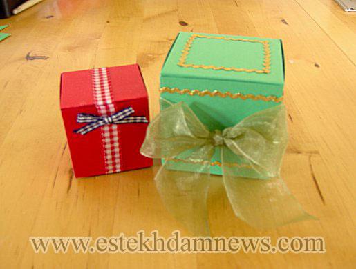 آموزش تصویری ساخت جعبه های کادویی بسیار زیبا