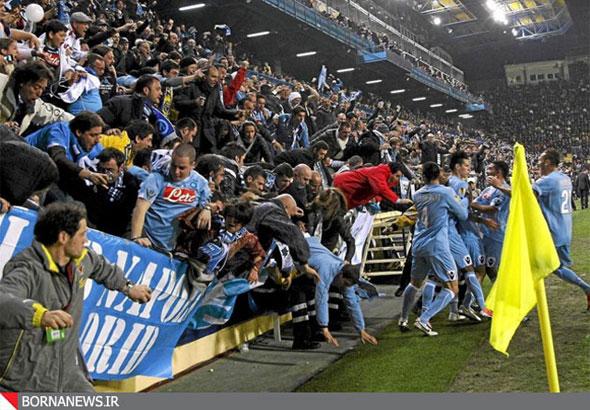 نتیجه خوشحالی هواداران تیم فوتبال بعد از گل + عکس