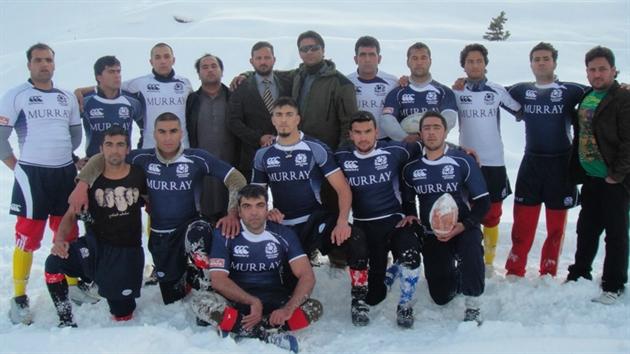 راگبی در برف در کابل