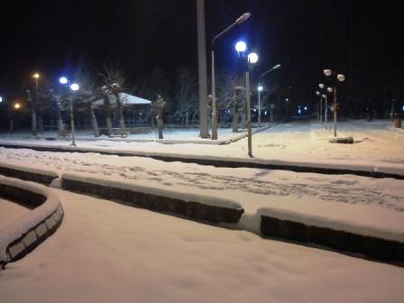 عکس زمستانی از شهر جلفا