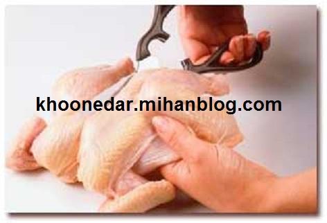 پوست کردن مرغ