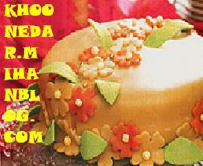 تزیین کیک با رویه مارسیپان