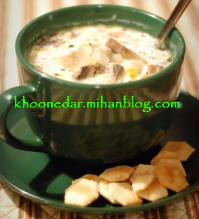 سوپ مرغ و قارچ