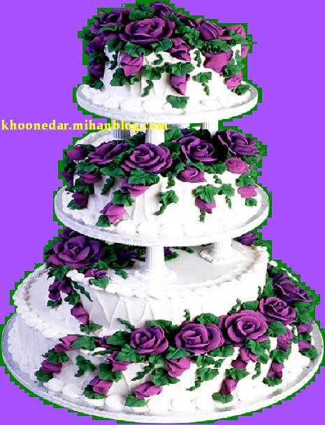 تزئین كیك عروسی