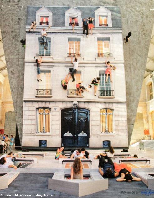 طراحی خانه با آینه در فرانسه