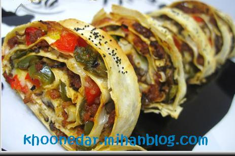 رولت گوشت با خمیر یوفکا