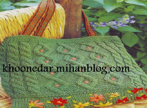 آموزش بافتن کیف knit bags