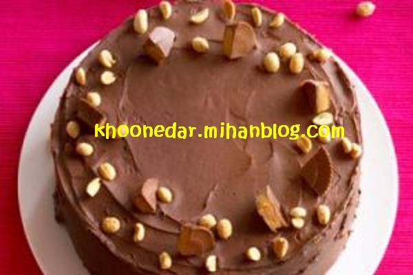 پاند کیک سفید با رگه شکلاتی