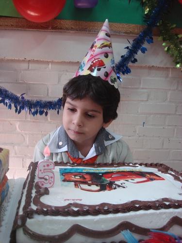 کیک جشن اسم یادداشتهایی برای فردا - تولد پنج سالگی