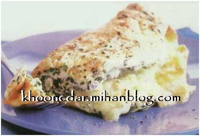 املت پیازچه و پنیر