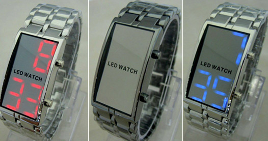 خريد ساعت آينه اي سامورايي در رنگهايي آبي و قرمز