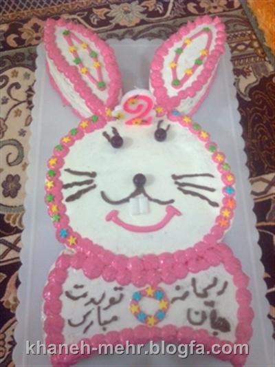 کیک تولد خرگوش